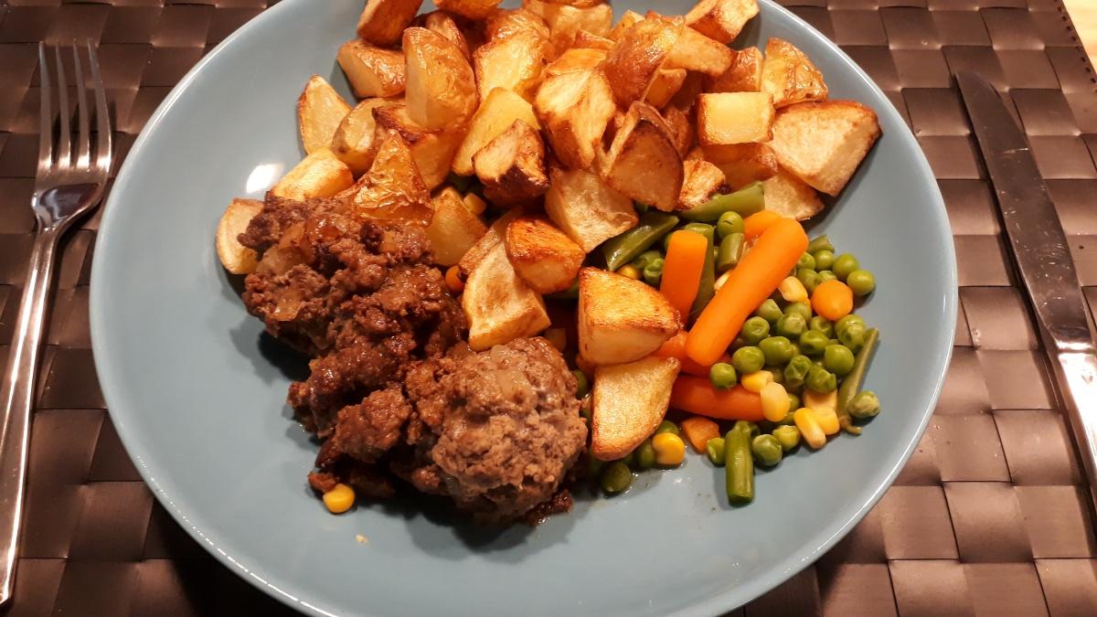 Aardappelblokjes uit de oven
