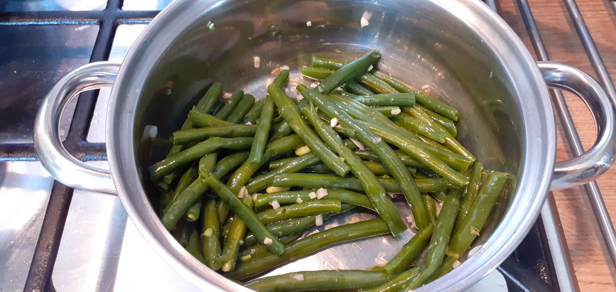 Haricots verts with garlic