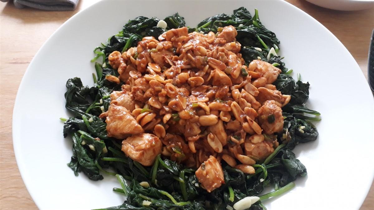 Stir fried spinach