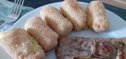Handgemaakte aardappelkroketjes uit de oven
